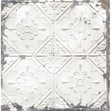 distressed tiles white tin ceiling wallpaper by a streets prints