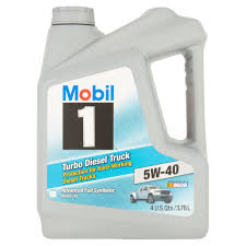 100 Gas In Diesel Truck Mobil 1 5W40 Turbo Motor Oil 1 Gal Walmartcom