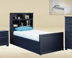 Twin Captains Bed With 6 Drawers by Stratford Navy Blue Twin Size Captains Bed Bookcase Bed