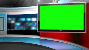 This Background Is Designed To Be Used As A Virtual In Green Screen Or News Studio
