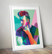 David Beckham Pop Art Canvas Wall Print