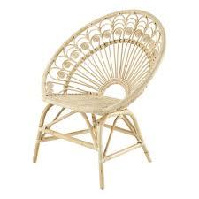 siege en rotin fauteuil vintage en rotin maisons du monde
