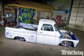 Slammed Old School Truck