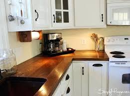diy countertops cabinet lighting wide plank butcher block