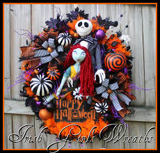 Jack Skellington And Sally Pumpkin Template by Irish U0027s Wreaths Where The Difference Is In The Details
