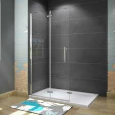 details zu faltbare drehbar walk nano esg glas duschtrennwand duschabtrennung bodengleich