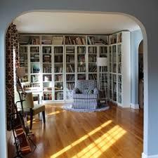 Formal Living Room Turned Library