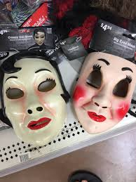 Scary Halloween Half Masks by The Strangers Knock Off Masks Available At Wal Mart For Halloween