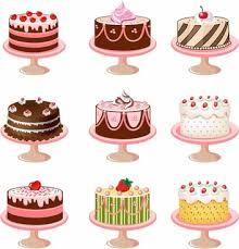 Set of cakes