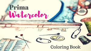 PRIMA Watercolor Coloring Book