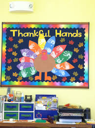 Christmas Classroom Door Decorations On Pinterest by Thanksgiving Bulletin Board Cms Thankful Notes On Tail Feathers