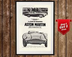 Aston Martin Vintage Poster