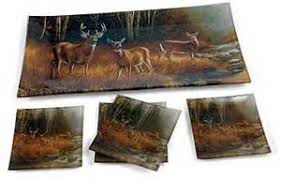 Appetizer Serving Set White Tail Deer Kitchen Decor Gift