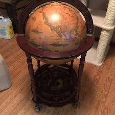 best large world globe liquor cabinet for sale in williston