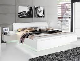 doppelbett 1 weiß teils hochglanz 180x200 ehebett mit 2x nako expendio
