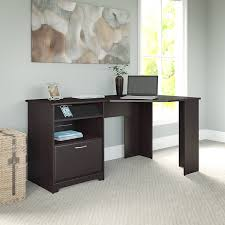 Bush Vantage Corner Desk Dimensions by Amazon Com Cabot Corner Desk In Espresso Oak Kitchen U0026 Dining