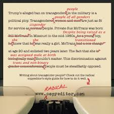 The Radical Copyeditors Style Guide For Writing About Transgender
