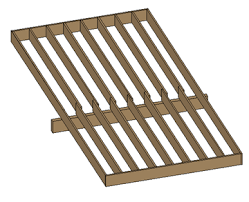 Distance Between Floor Joists by Floor Beam Span Tables Calculator