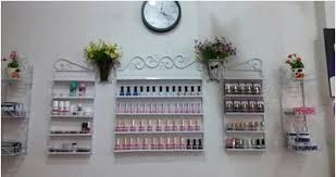 Five Piece Iron Continental Shelf Wall Nail Polish Shop Display Perfume