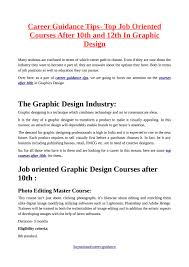 career guidance tips top oriented courses after 10th and