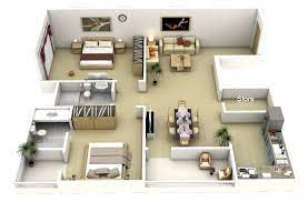 104 Two Bedroom Apartment Design House Plans Architecture House Plans 1062