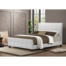 contemporary faux leather platform bed by baxton studio free