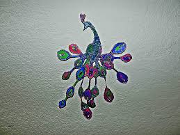 Plastic Spoon Wall Art Awesome Recycled Diy Peacock Decor Hd Wallpaper Pictures