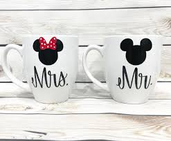 Mickey And Minnie Bathroom Accessories by Coffee Mugs Set Of 2 Mr And Mrs His And Hers Mickey And