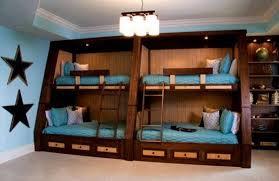 lit superposé 4 places en bois de design unique