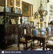 Collection Of Blue+white China In Country Dining Room With Heavy ... Ten Piece Jacobean Style Ding Room Harvest Set Jacobean Style Ding Table Sahanhme Antique Jacobean 7piece Ding Set Wood Room Chairs Table Buffet China Superb Of 8 Oak Made In The Uk Jacobeanstyle Brixton Ldon Gumtree Style And Six Fniture Characteristics Collection Of Bluewhite China On Heavy Carved Oak With Rustic 132198 Cm Extending And 6 Revival Plank Top Trestle Six Chairs Oyster Coalville Leicestershire I Have A 1940s Vintage Solid Mahogany Room Set That English Chair 4 Barley Twist C1900