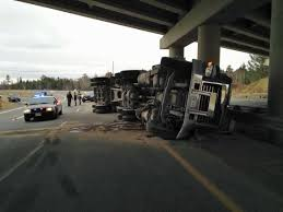 100 Truck Tips Tips Over On Route 8 In Fredericton CBC News