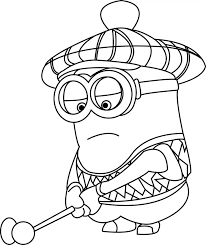 Despicable Me Golfer Minions Coloring Page Wecoloringpage Golf Book Pages Free