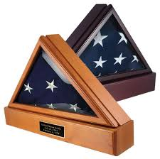 The Military Officers 5X95 Flag Case With Free Matching Pedestal