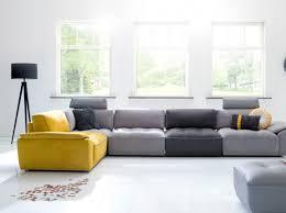 canapé gris design canapé gris et jaune h h salon living room salons