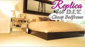 diy bed frame platform bedframe cheap bedframe ideas youtube