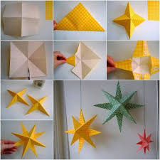 Paper Star Decors Look Fabulous They Are Super Easy And Fun To Make Will Add A Festive Decoration Highlight The Season