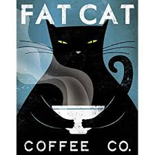 cat coffee cat coffee co fowler vintage ads cats print