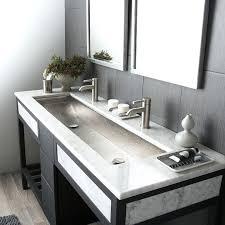 faucet trough sink two faucet trough bathroom sink 2 faucet