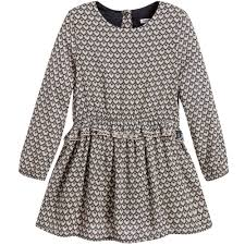 ikks girls blue patterned dress childrensalon