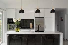 White Black Kitchen Design Ideas by Custom Luxury Home Builders Nz Kitchen Design Inspiration