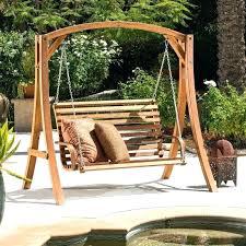 Outdoor Swing Cushions Aluminum Patio Furniture With Steel C Legs