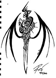 Tribal Dragon Symbol 9 By RoyCorleone