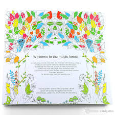 Prettybaby Secret Garden Coloring Book Painting Drawing 24 Pages Animal Kingdom Enchanted Forest Relieve Stress For Children Adult Art