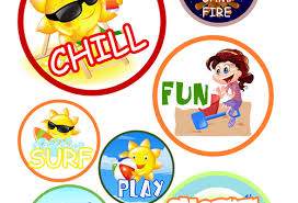 Summer Crafts For Kids How To Make Printable Beach Stickers