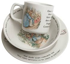 Peter Rabbit Bedding by Wedgwood Peter Rabbit Original 3 Pce Set Plate 18cm Bowl