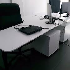 used ikea bekant corner desk white black home furniture