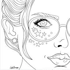 Coloring Pages Of Faces Sandbox Heart Also Girl Drawings Wallpaper Craft To Draw Adult