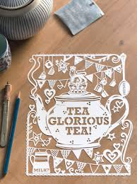 Papercut Diy Template Tea