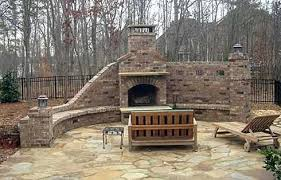 Outdoor Masonry Fireplace Brick Outdoor Fireplace Outdoor Brick