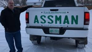 100 Totally Trucks Assman Displays Name On Trucks Tailgate After License Plate